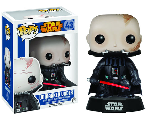 STAR WARS UNMASKED VADER POP VINYL FIGURE