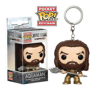 POCKET POP JUSTICE LEAGUE MOVIE AQUAMAN FIGURE KEYCHAIN