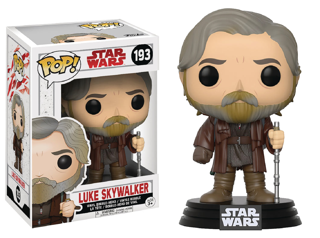 POP STAR WARS EPISODE 8 LUKE SKYWALKER POP VINYL FIGURE