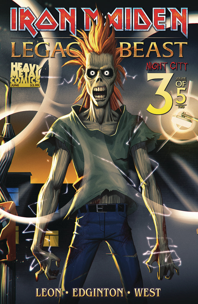 IRON MAIDEN LEGACY O/T BEAST VOL 2 NIGHT CITY #3 CVR A