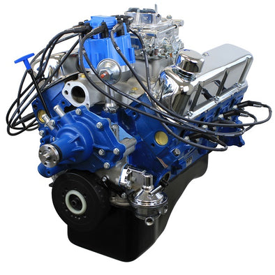 302CI Crate Engine | Small Block Ford Style | Dressed Longblock with Carburetor  | Iron Heads | Flat Tappet Cam