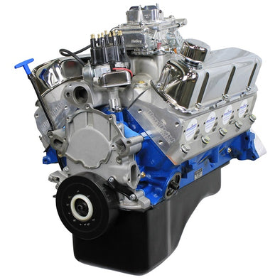 BluePrint Engines 302CI Crate Engine | Small Block Ford Style | Dressed Longblock with Carburetor  | Aluminum Heads | Roller Cam