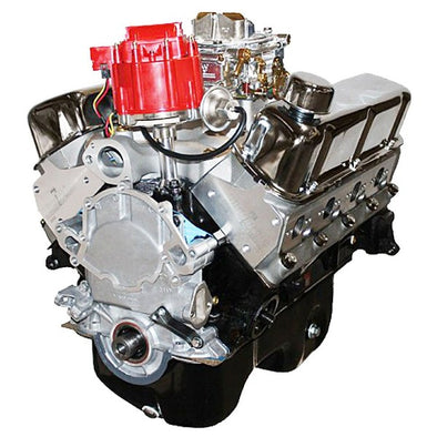 BluePrint Engines 347CI Stroker Crate Engine | Small Block Ford Style | Dressed Longblock with Carburetor  | Aluminum Heads | Roller Cam