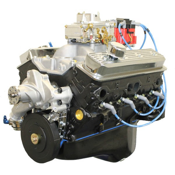 Gm Crate Engines >> Blueprint Engines 383ci Stroker Crate Engine Small Block Gm Style Dressed Longblock With Carburetor Iron Heads Roller Cam