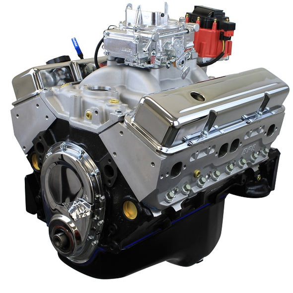 BluePrint Engines 355CI Crate Engine | Small Block GM Style | Dressed Longblock with Carburetor  | Aluminum Heads | Roller Cam
