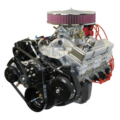 BluePrint Engines 383 ci SBC Stroker Crate Engine  | Small Block GM Style |  Drop in ready Longblock with Carburetor  |  Aluminum Heads