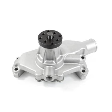 ALUMINUM MECHANICAL WATER PUMP | CHEVY SB | SHORT | STANDARD ROTATION | SATIN