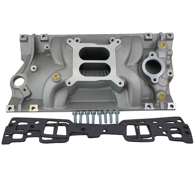 BluePrint Engines SBC Intake Manifold Kit | Dual Plane | Aluminum | Natural, | Square Bore | Chevy | Small Block,| Vortec