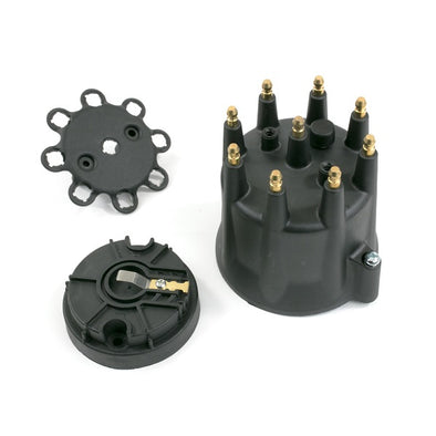 PRO BILLET READY TO RUN DISTRIBUTOR CAP & ROTOR KIT | MALE CAP | BLACK