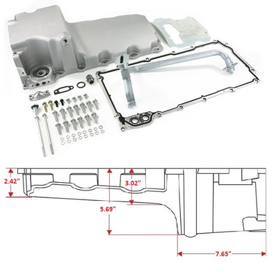 LS Oil Pan Swap Kit | Rear Sump Oil Pan Kit for  Muscle Car / Truck Engine Swap