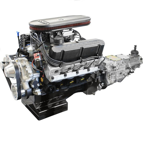 BluePrint Engines Builder Series 427CI Cobra Engine and 4R70W Auto Trans Package | Small Block Ford Style | Dressed Longblock with Carburetor  | Aluminum Heads | Roller Cam