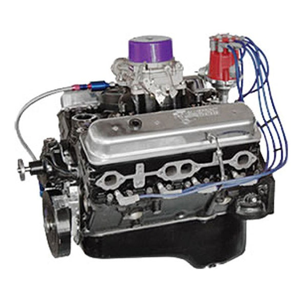BluePrint Engines 355CI Marine Crate Engine | Small Block GM Style | Dressed Longblock with Carburetor  | Iron Heads | Flat Tappet Cam