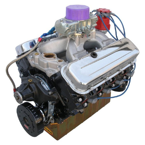 BluePrint Engines 496CI Stroker Marine Crate Engine | Big Block GM Style | Dressed Longblock with Carburetor  | Iron Heads | Flat Tappet Cam