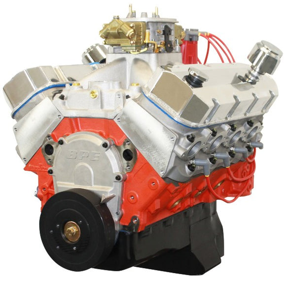 BluePrint Engines 540CI Pro Series Stroker Marine Crate Engine | Big Block GM Style | Dressed Longblock with Carburetor  | Aluminum Heads | Roller Cam