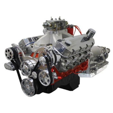 BluePrint Engines Builder Series 632 CI ProSeries Stroker Fuel Injected Crate Engine and 4L80E Auto Trans Package | Big Block GM Style | 10.3L | Drop In Ready - Polished Front Accessories