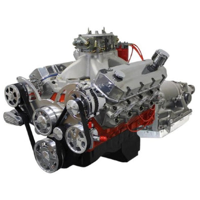 BluePrint Engines Builder Series 632 CI ProSeries Stroker Crate Engine and 4L80E Auto Trans Package | Big Block GM Style | 10.3L | Drop In Ready - Polished Front Accessories