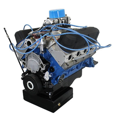 BluePrint Engines 427CI ProSeries Stroker Crate Engine | Small Block Ford Style | Dressed Longblock with Carburetor  | Aluminum Heads | Roller Cam