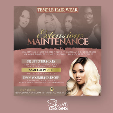 Temple Wig/Bundle Maintance