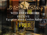 FREE with every purchase Receive Egyptian Musk Golden Anbar 3 ml