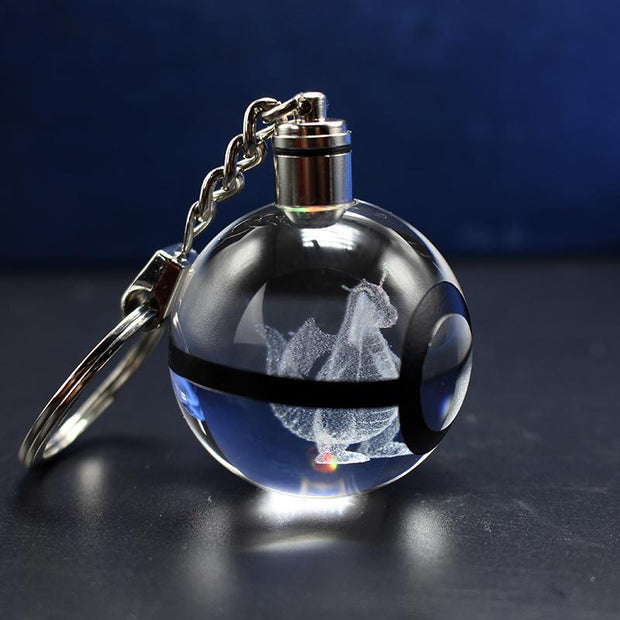 Crystal Pokeball Keychains