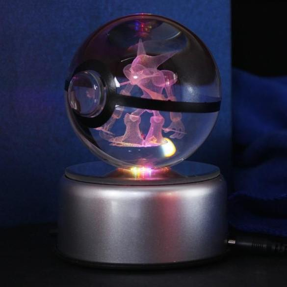 pokemon alakazam crystal led pokeball lamp