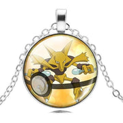 pokemon alakazam glass pendant