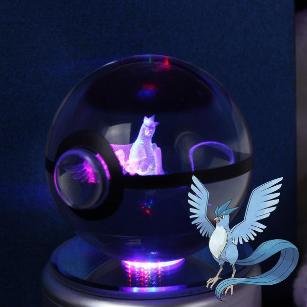 pokemon articuno crystal pokeball