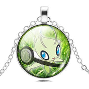 pokemon celebi glass pendant