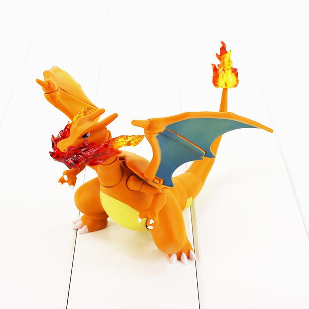 pokemon charizard collectors figure toy with small fire breath