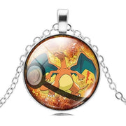pokemon charizard glass pendant