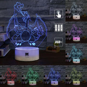 pokemon charizard 3d led night lights of many colors