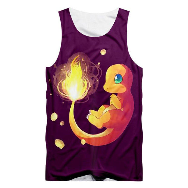 Bright In The Night Charmander TopTank TopS