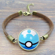 pokemon dive ball leather bracelet