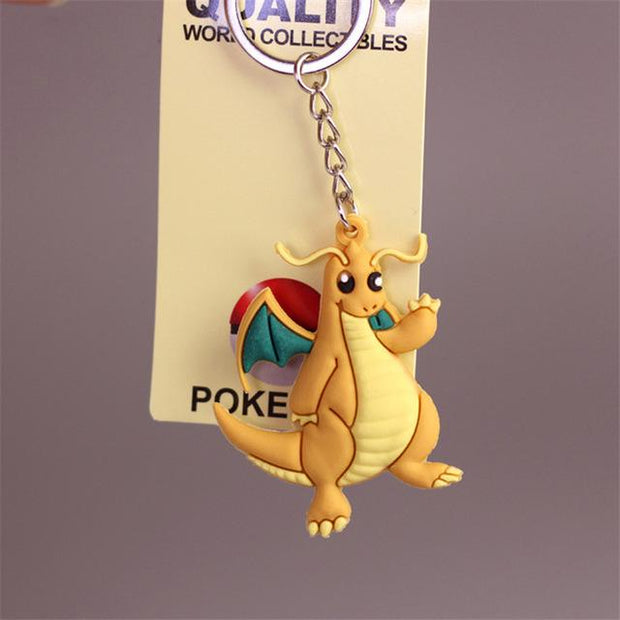 pokemon dragonite 3d keychain