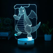 pokemon dragonite led 3d night light of blue color