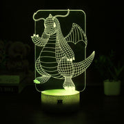 pokemon dragonite led 3d night light of yellow color