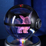 pokemon eevee crystal led pokeball