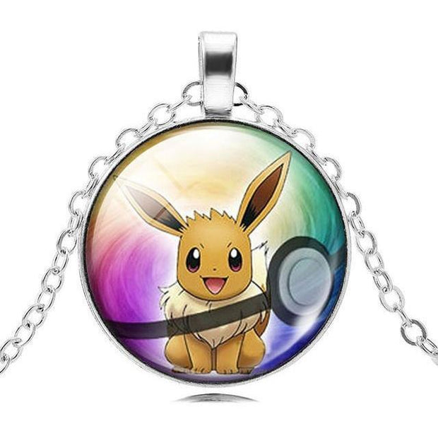 pokemon eevee glass pendant