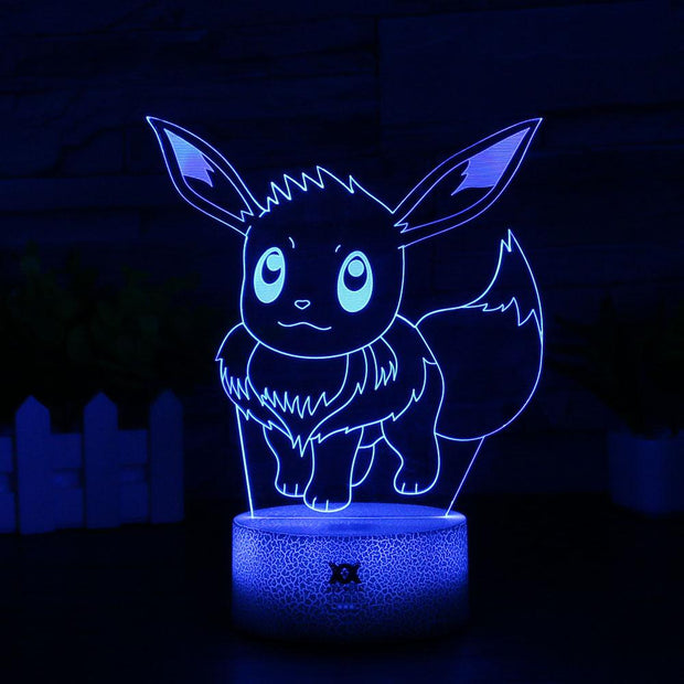 pokemon eevee led 3d night light of blue color