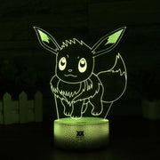 pokemon eevee led 3d night light of yellow color