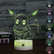 pokemon eevee led 3d night lights of many colors