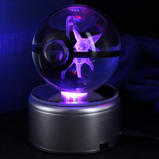 pokemon espeon crystal led pokeball