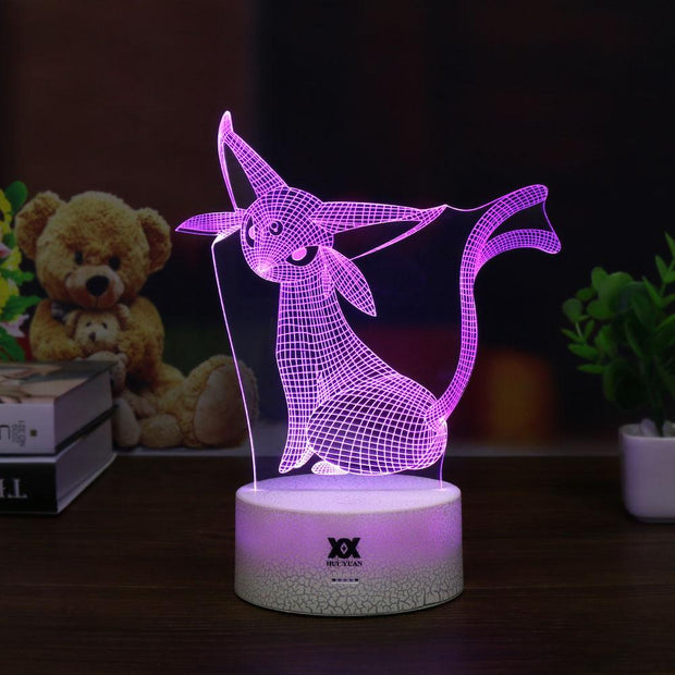 pokemon espeon led 3d night light of purple color