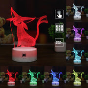 pokemon espeon led 3d night light of many color