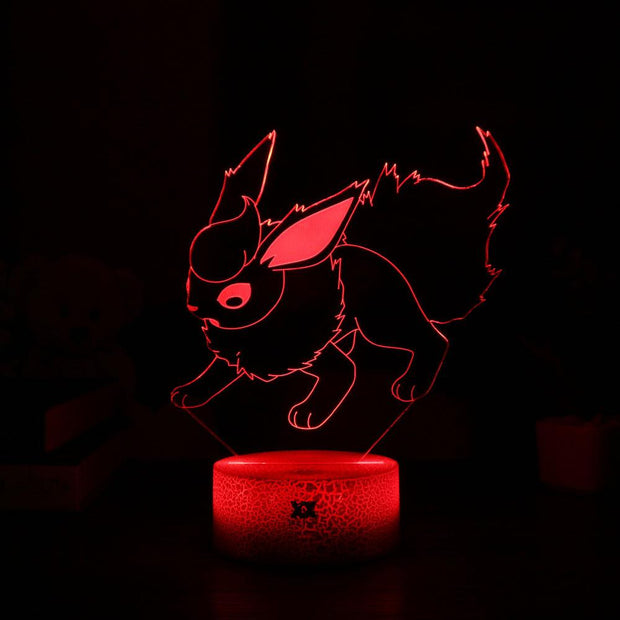 pokemon flareon led 3d night light of red color