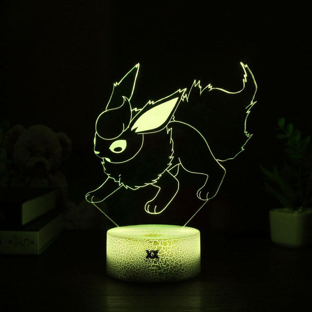 pokemon flareon led 3d night light of yellow color
