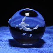 pokemon glaceon led crystal pokeball without light base