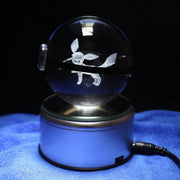 pokemon glaceon led crystal pokeball