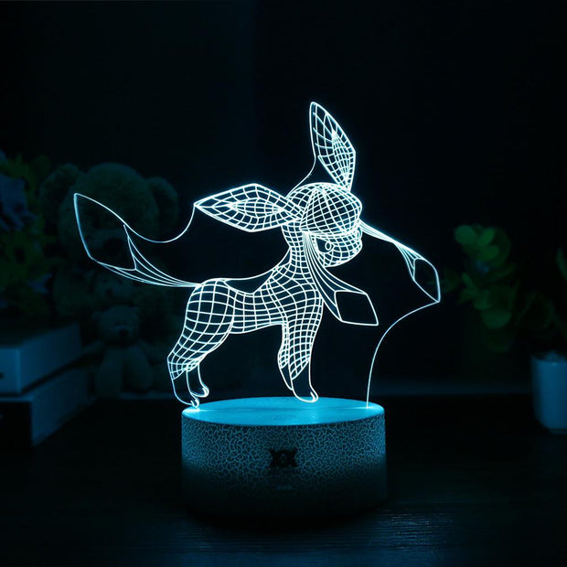 pokemon glaceon led 3d night light of blue color
