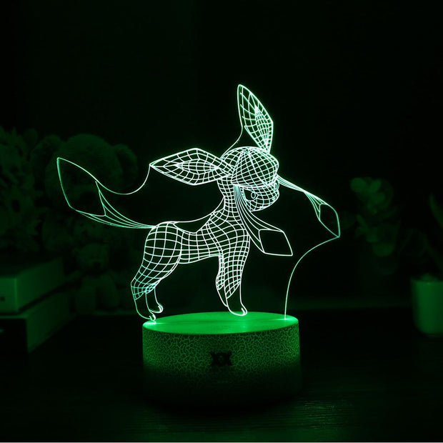 pokemon glaceon led 3d night light of green color